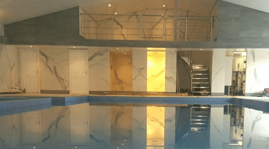 Marble Tiles in Pool Room
