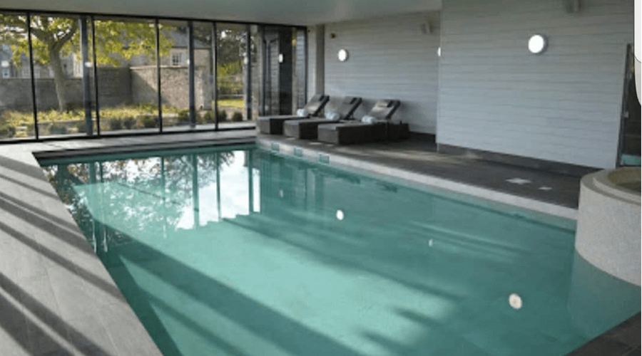Grey Tiles in Pool Room