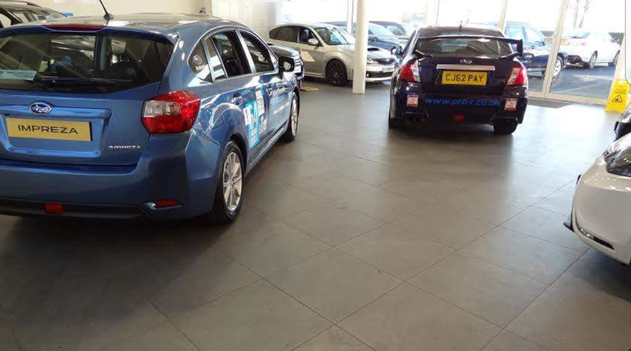 Car Showroom Tiles