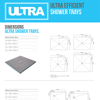 Ultra Shower Trays