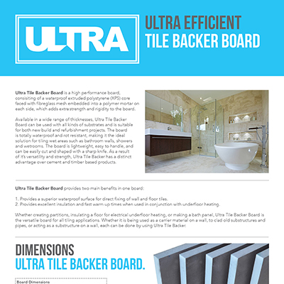 Ultra Tile Backer Boards