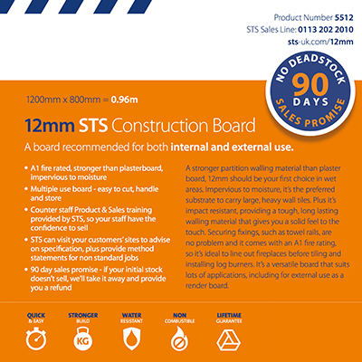 STS 12mm Construction Board