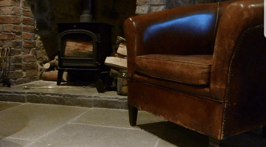Stone Tiles with Armchair